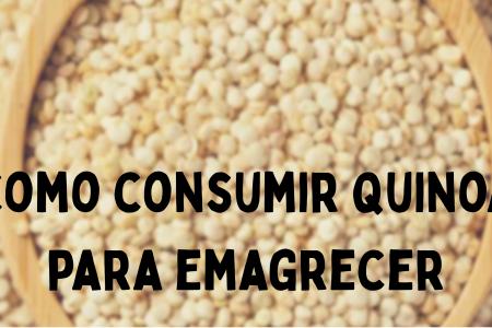 como consumir a quinoa para emagrecer